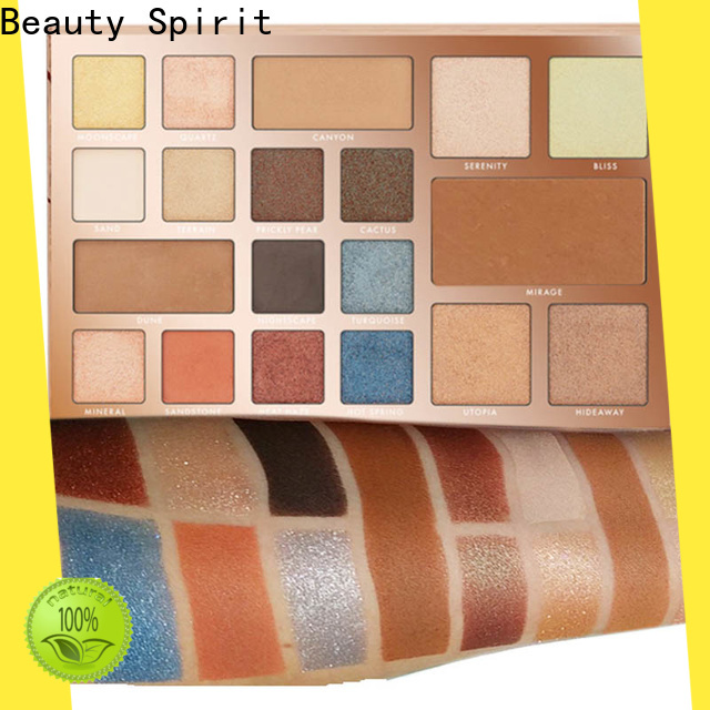 Beauty Spirit factory direct shimmer eyeshadow palette best factory price manufacturer