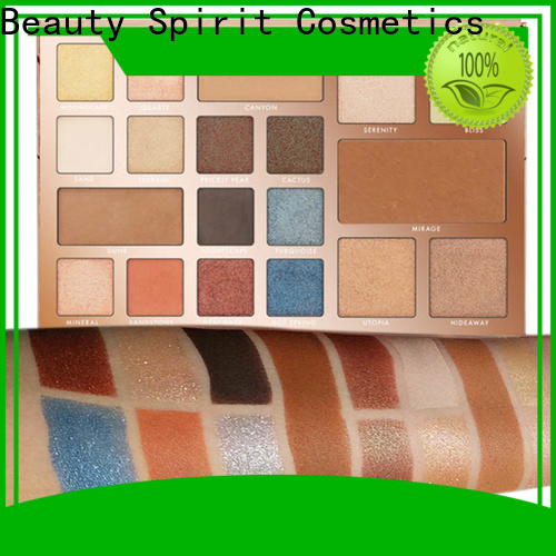 Beauty Spirit customized beauty eyeshadow palette long-lasting fast delivery