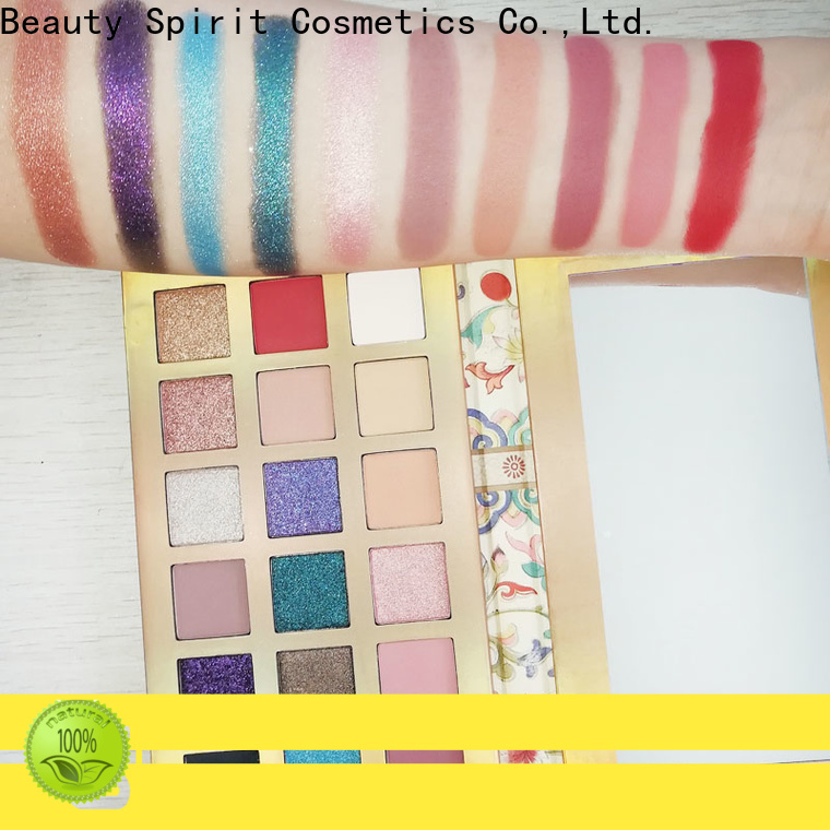 Beauty Spirit customized recommended eyeshadow palettes best factory price free sample