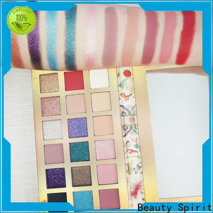 Beauty Spirit shimmer eyeshadow palette long-lasting free sample