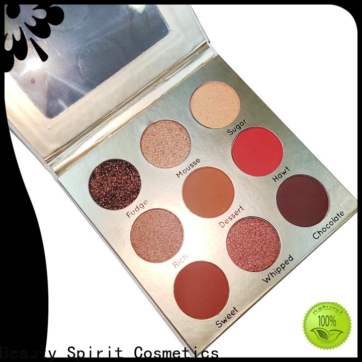Beauty Spirit factory direct best pigmented eyeshadow palettes best factory price fast delivery