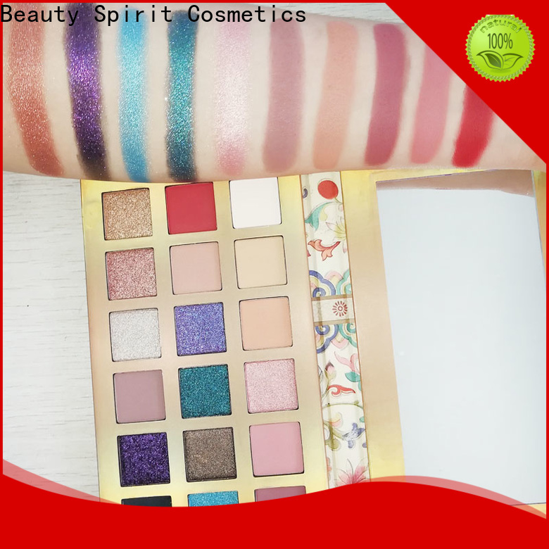 Beauty Spirit customized beauty eyeshadow palette best factory price fast delivery