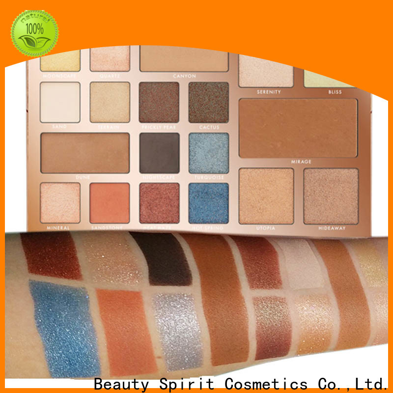 Beauty Spirit factory direct private label eyeshadow palette best factory price manufacturer