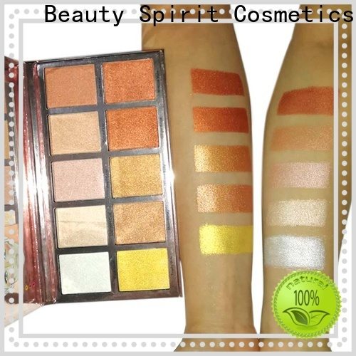 Beauty Spirit free sample cheek shimmer makeup highlighter manufacturer skin-friendly China